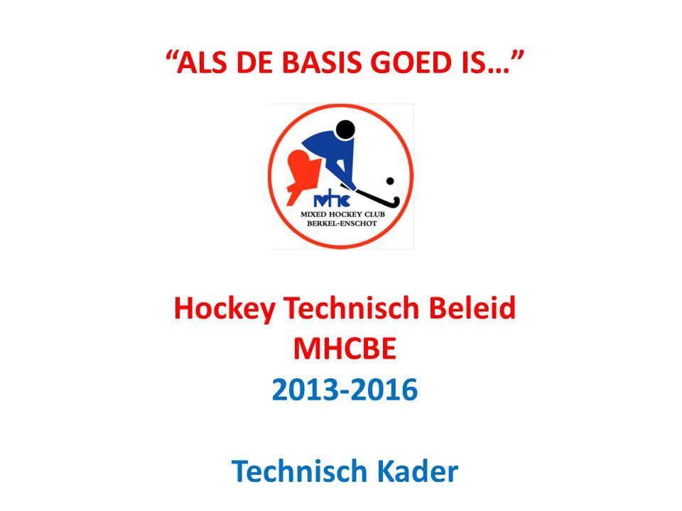 ALS DE BASIS GOED IS… Hockey Technisch Beleid MHCBE 2013-2016 Technisch Kader