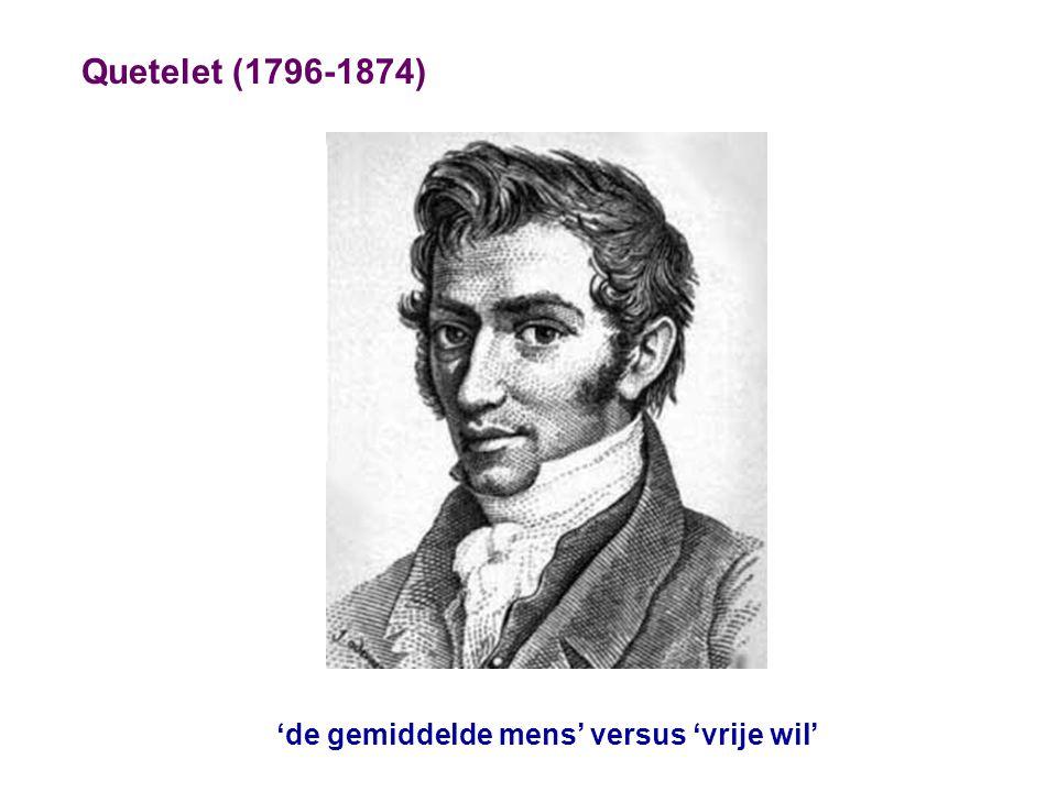 Quetelet (1796-1874) 'de gemiddelde mens' versus 'vrije wil'