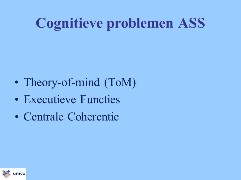 Overzicht presentatie Model Theory-of-mind: Spiegelneuronen Model executieve functies: Training werkgeheugen