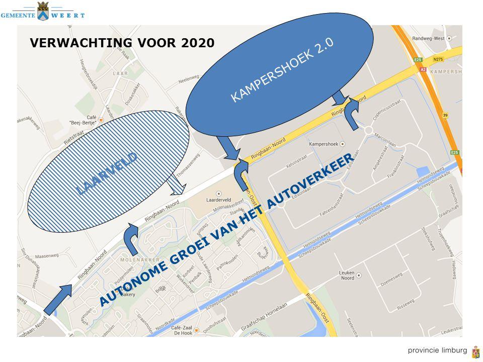 AUTONOME GROEI VAN HET AUTOVERKEER VERWACHTING VOOR 2020 KAMPERSHOEK 2.0 LAARVELD