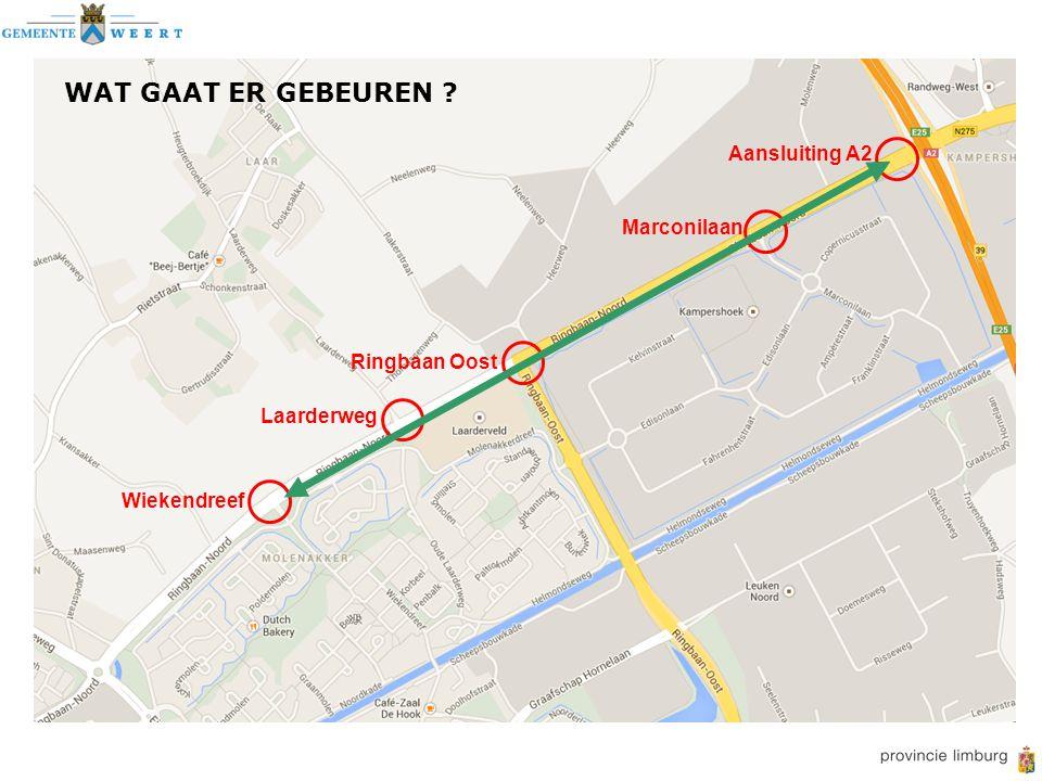 Wiekendreef Laarderweg Ringbaan Oost Marconilaan Aansluiting A2 WAT GAAT ER GEBEUREN ?