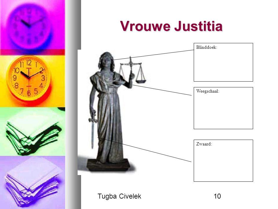 Tugba Civelek10 Vrouwe Justitia Blinddoek: Weegschaal: Zwaard: