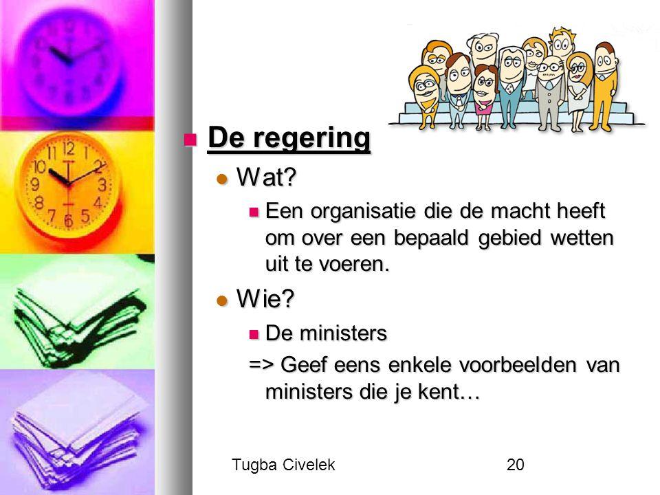 Tugba Civelek20 De regering De regering Wat. Wat.