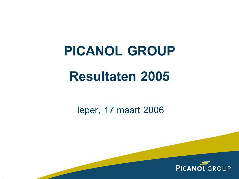 1 PICANOL GROUP Resultaten 2005 Ieper, 17 maart 2006