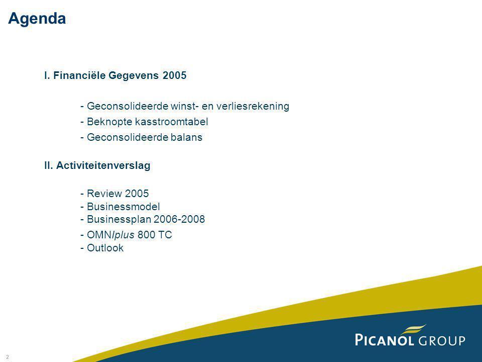 2 I. Financiële Gegevens 2005 - Geconsolideerde winst- en verliesrekening - Beknopte kasstroomtabel - Geconsolideerde balans II. Activiteitenverslag -