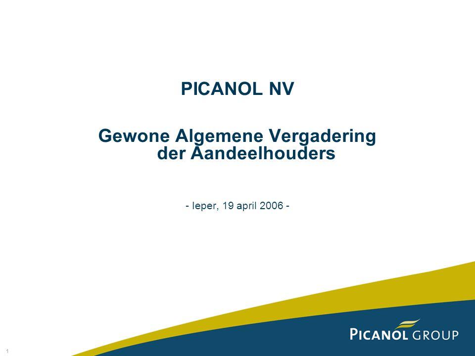 1 PICANOL NV Gewone Algemene Vergadering der Aandeelhouders - Ieper, 19 april 2006 -