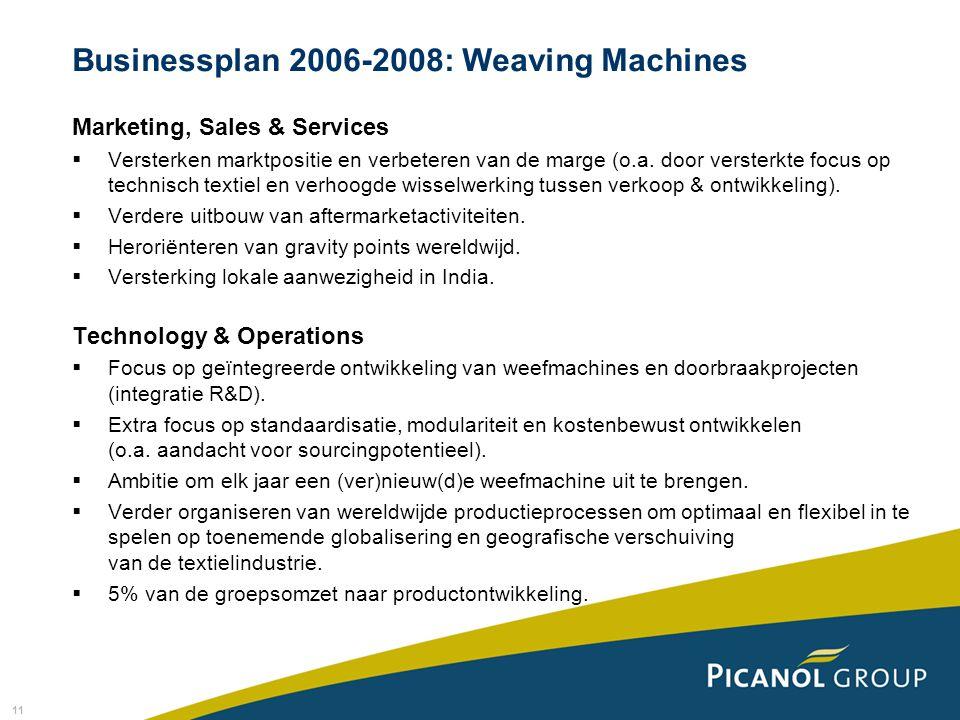 11 Marketing, Sales & Services  Versterken marktpositie en verbeteren van de marge (o.a.