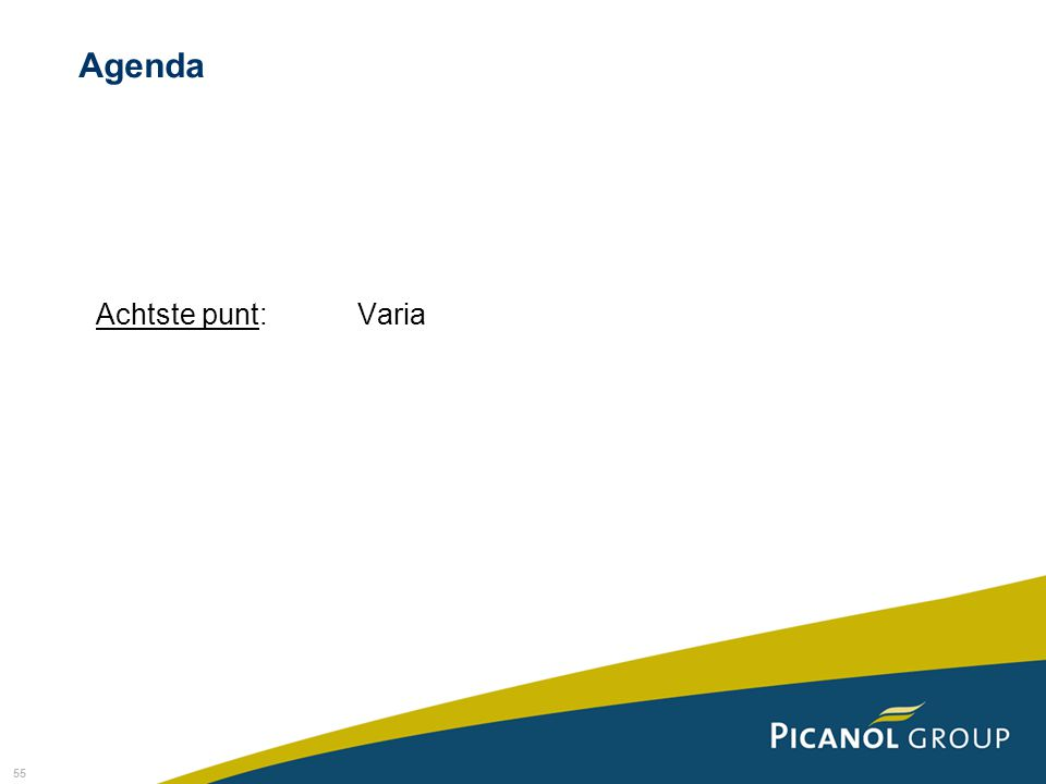 55 Achtste punt: Varia Agenda