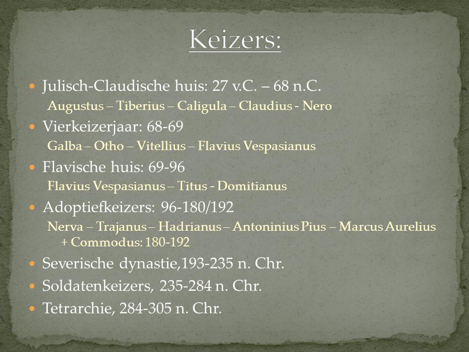 Julisch-Claudische huis: 27 v.C.– 68 n.C.