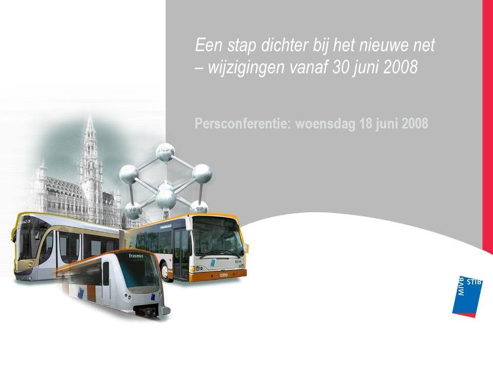 Een stap dichter bij het nieuwe net – wijzigingen vanaf 30 juni 2008 Persconferentie: woensdag 18 juni 2008