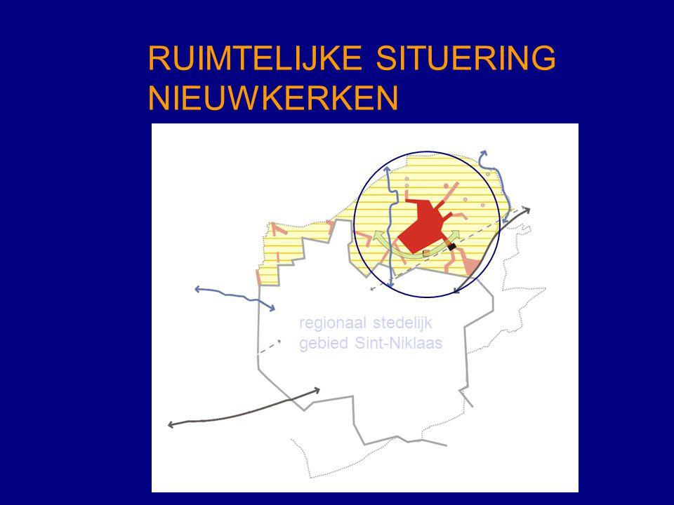 RUIMTELIJKE SITUERING NIEUWKERKEN regionaal stedelijk gebied Sint-Niklaas