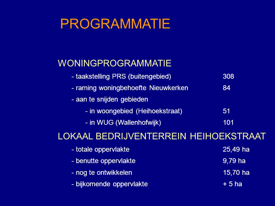WONINGPROGRAMMATIE - taakstelling PRS (buitengebied)308 - raming woningbehoefte Nieuwkerken84 - aan te snijden gebieden - in woongebied (Heihoekstraat