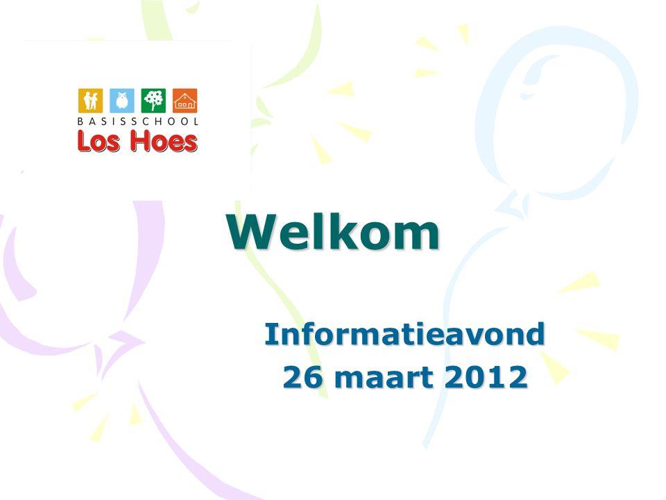 Welkom Informatieavond 26 maart 2012