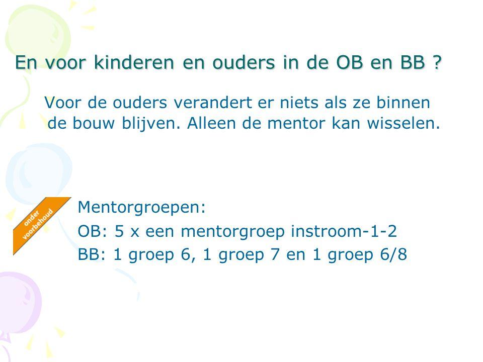 En voor kinderen en ouders in de OB en BB .