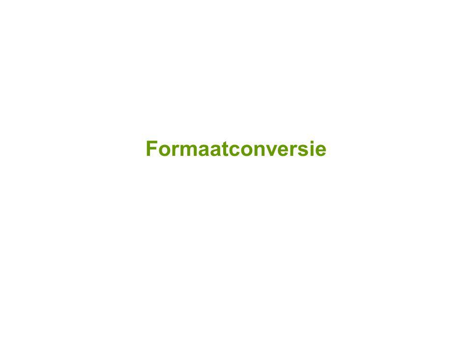 Formaatconversie