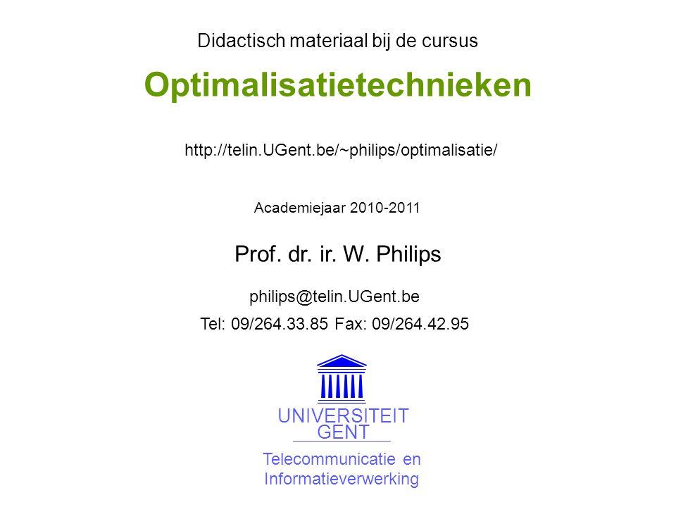 © W.Philips, Universiteit Gent, 1998-2012versie: 23/4/2012 09a.