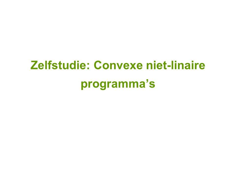 Zelfstudie: Convexe niet-linaire programma's