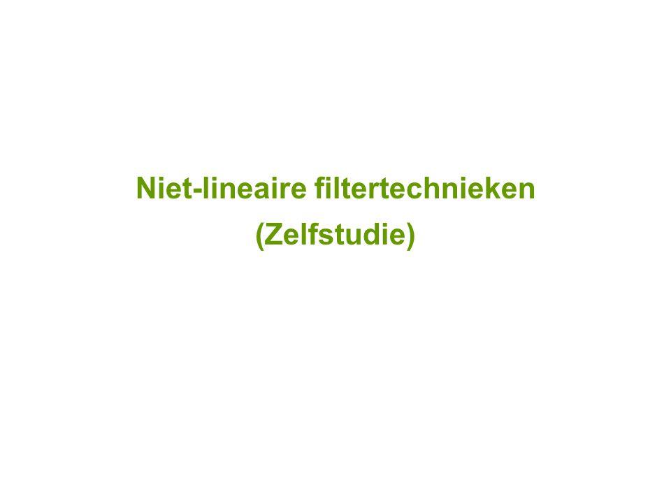 Niet-lineaire filtertechnieken (Zelfstudie)