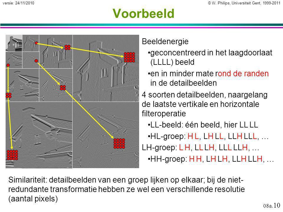 © W. Philips, Universiteit Gent, 1999-2011versie: 24/11/2010 08a.