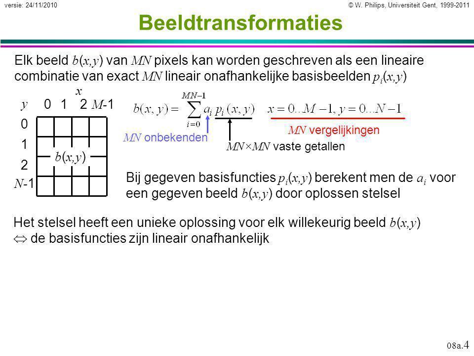 © W.Philips, Universiteit Gent, 1999-2011versie: 24/11/2010 08a.