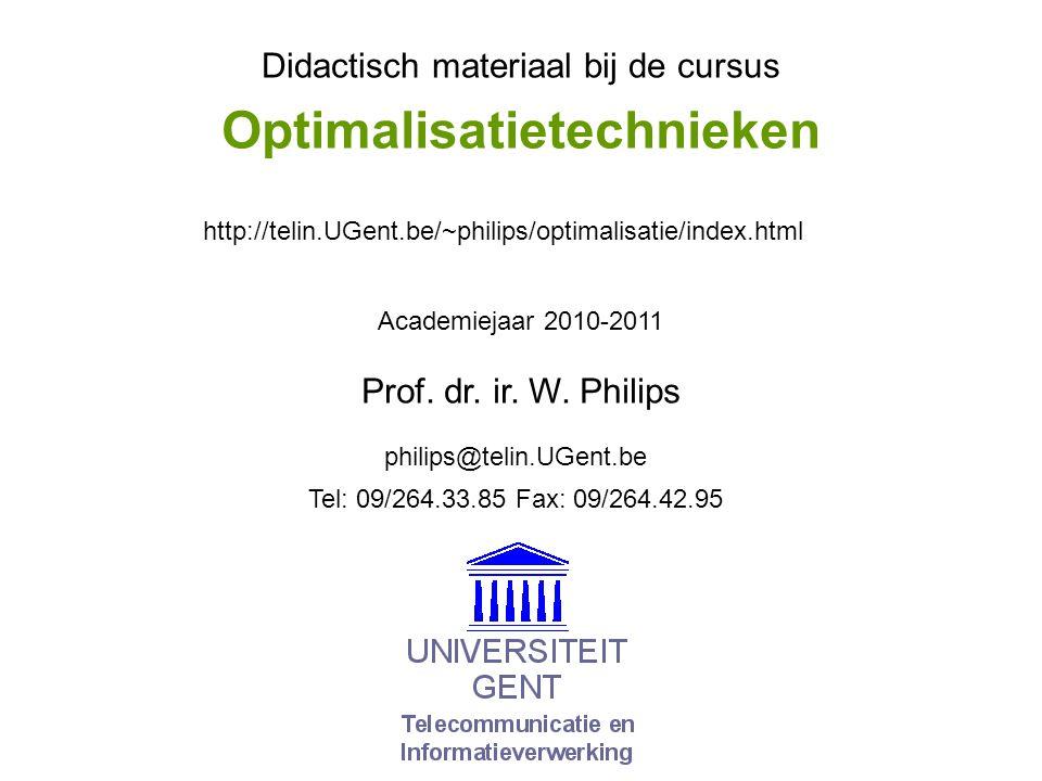 © W.Philips, Universiteit Gent, 1998-2011 versie: 16/2/2011 01a.