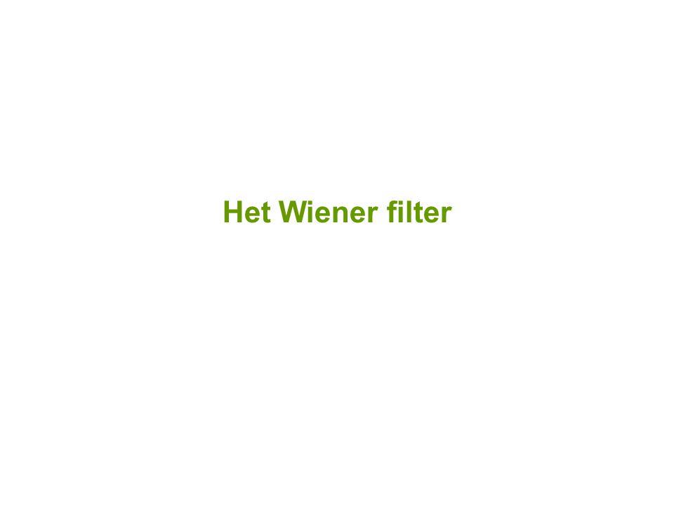 Het Wiener filter