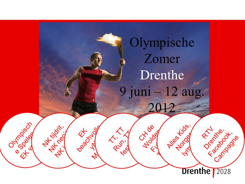 Olympische Zomer Drenthe 9 juni – 12 aug.