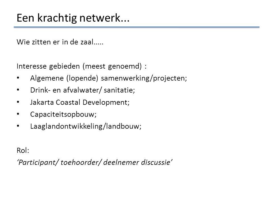 Agenda vanmiddag Doelstellingen vanmiddag: 1.Netwerkmoment aanbieden; 2.Breed informeren over de bilaterale samenwerking; 3.Definiëren strategische samenwerking op verschillende thema's.