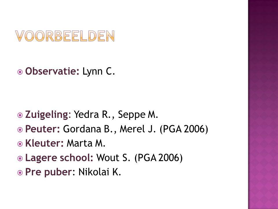  Observatie: Lynn C.  Zuigeling: Yedra R., Seppe M.
