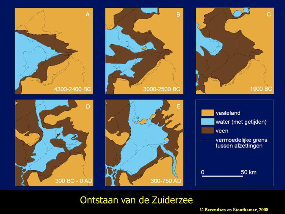 Ontstaan van de Zuiderzee © Berendsen en Stouthamer, 2008