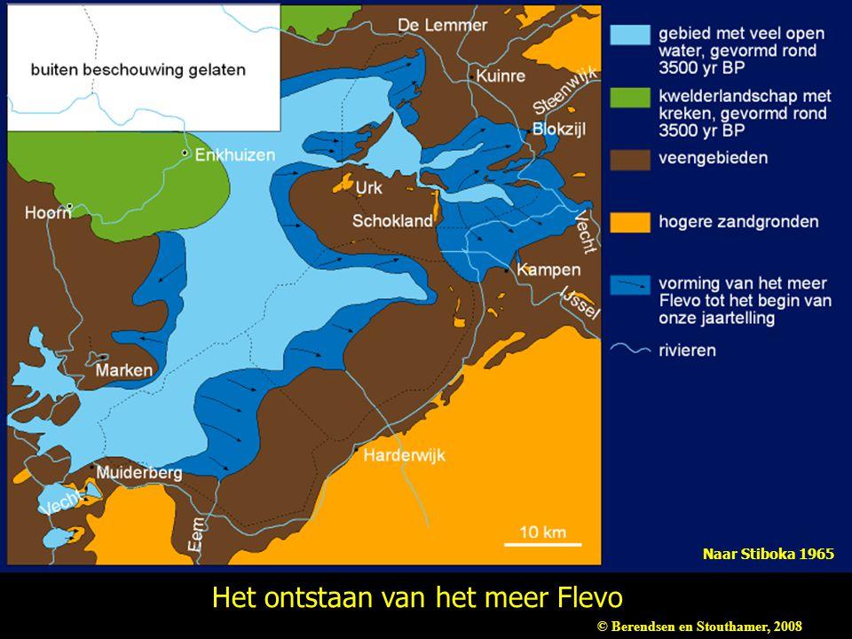 Het ontstaan van het meer Flevo Naar Stiboka 1965 © Berendsen en Stouthamer, 2008