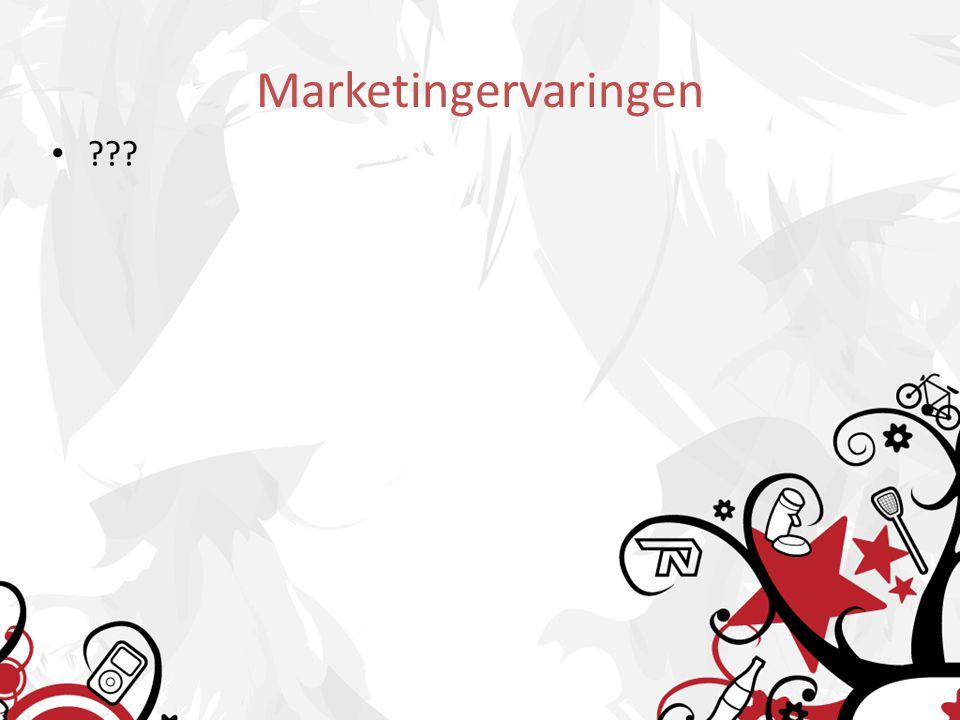 Marketingervaringen ???