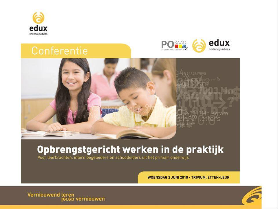 Conferentie Opbrengstgericht werken Samenwerking tussen Edux Onderwijsadvies en PO-Raad
