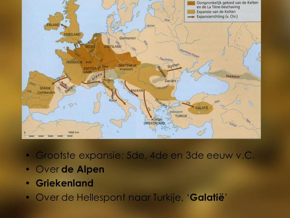 Grootste expansie: 5de, 4de en 3de eeuw v.C.