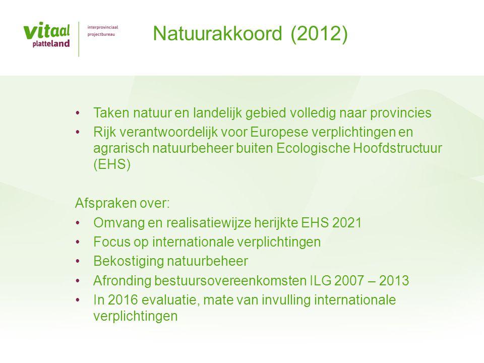 Taken natuur en landelijk gebied volledig naar provincies Rijk verantwoordelijk voor Europese verplichtingen en agrarisch natuurbeheer buiten Ecologis