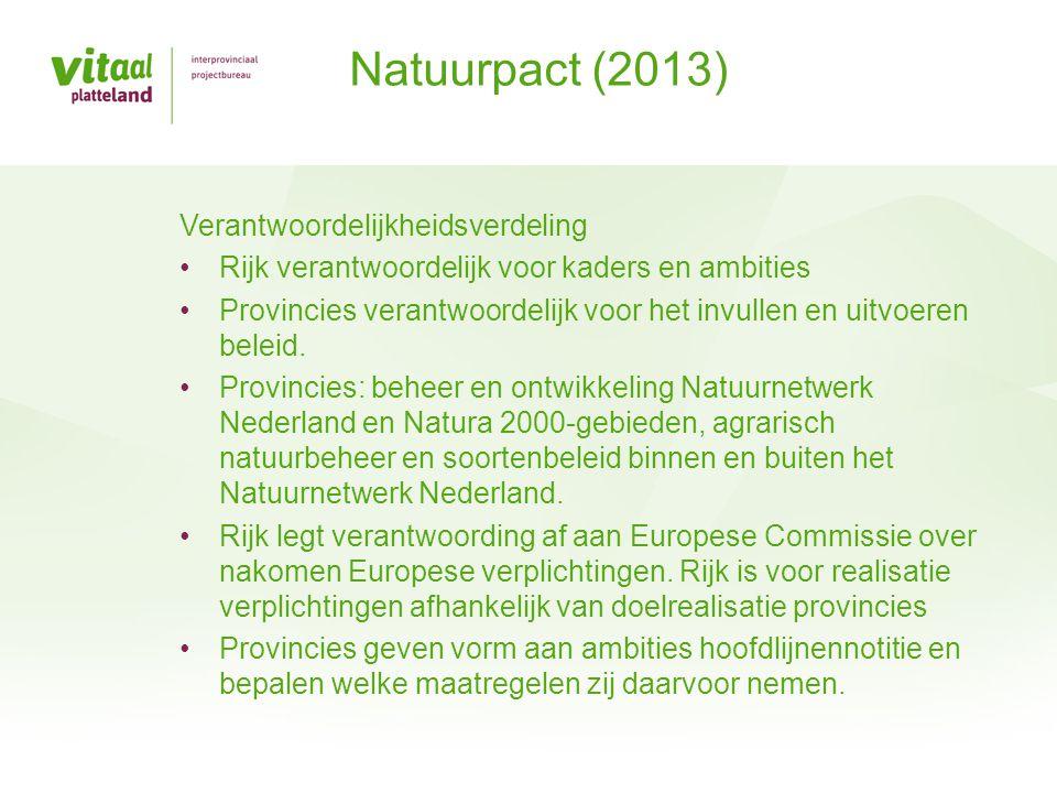 Provincies worden nu geheel verantwoordelijk om samen met de maatschappelijke organisaties het natuurnetwerk te realiseren.