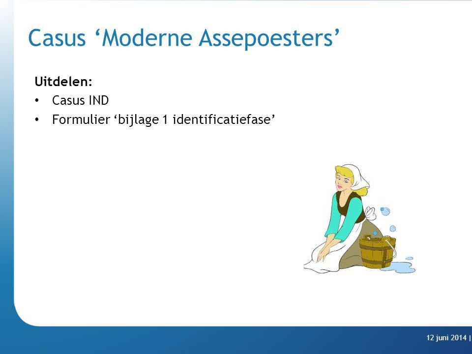 Casus 'Moderne Assepoesters' Uitdelen: Casus IND Formulier 'bijlage 1 identificatiefase' 12 juni 2014 |