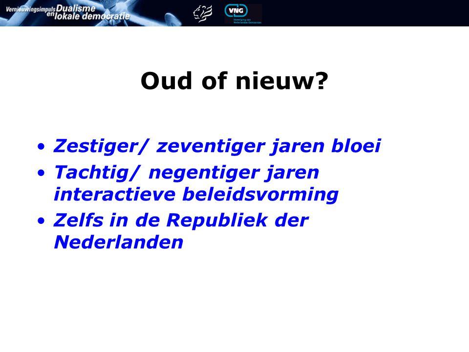 Vormen Interactief beleid Expert meetings Wijk- en dorps- bezoeken Panels en focusgroepen Enquêtes Gast van de Raad Berichten vd.