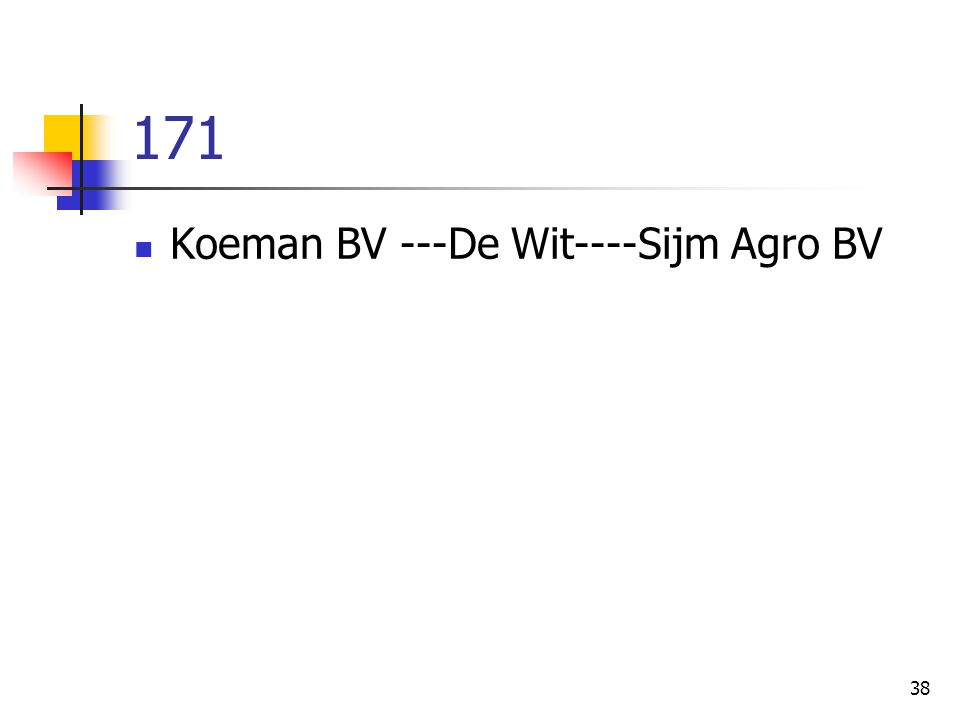 38 171 Koeman BV ---De Wit----Sijm Agro BV