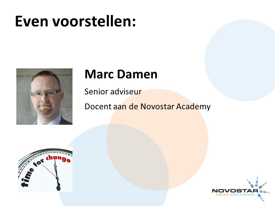 Marc Damen Senior adviseur Docent aan de Novostar Academy