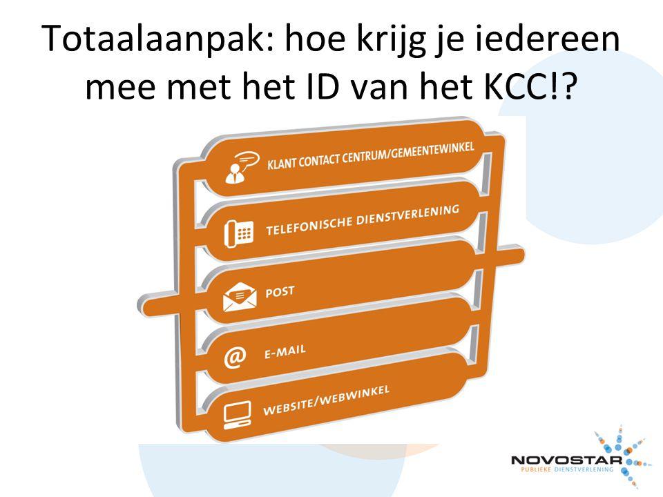 Totaalaanpak: hoe krijg je iedereen mee met het ID van het KCC!?