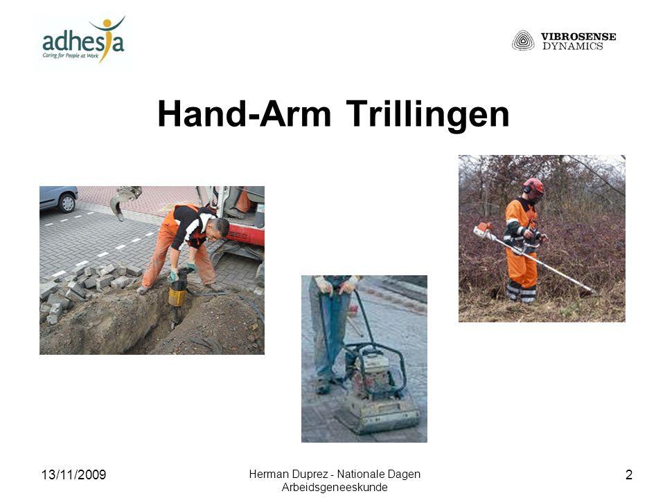 13/11/2009 Herman Duprez - Nationale Dagen Arbeidsgeneeskunde 3 Het Hand-Arm Vibratiesyndroom Vasculaire letsels : Raynaud fenomeen