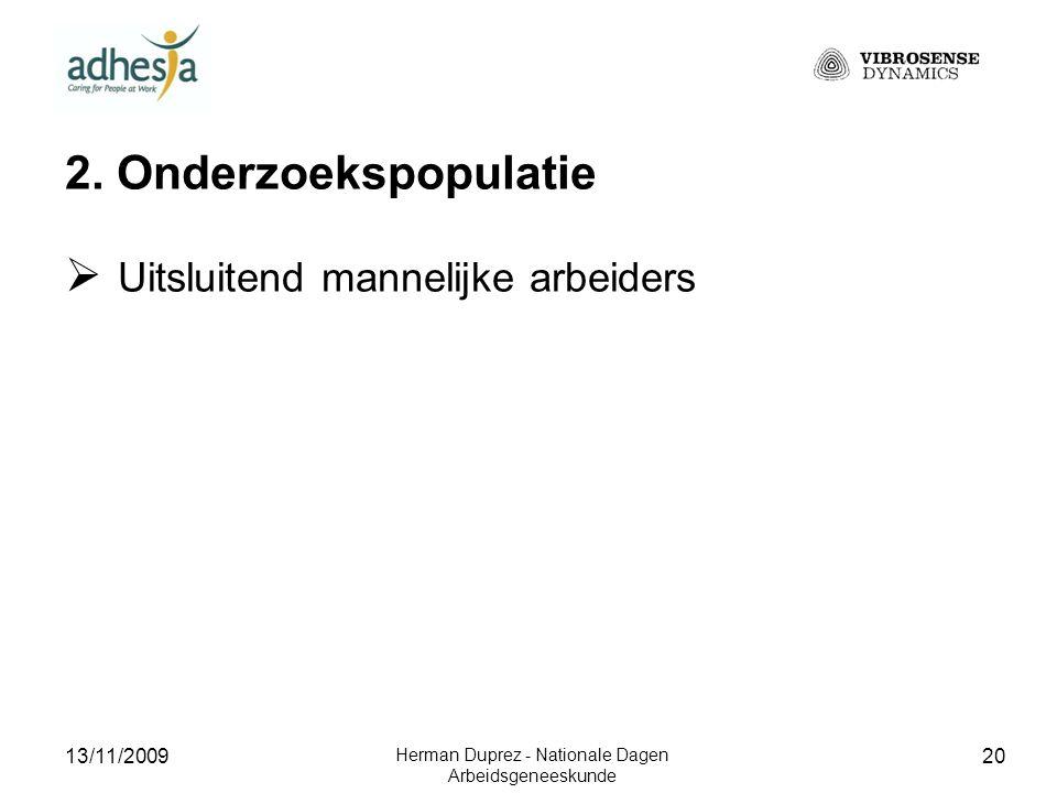13/11/2009 Herman Duprez - Nationale Dagen Arbeidsgeneeskunde 21 2.