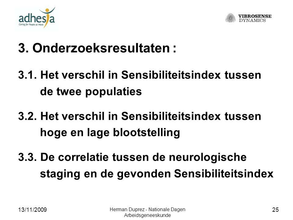 13/11/2009 Herman Duprez - Nationale Dagen Arbeidsgeneeskunde 26 3.1.