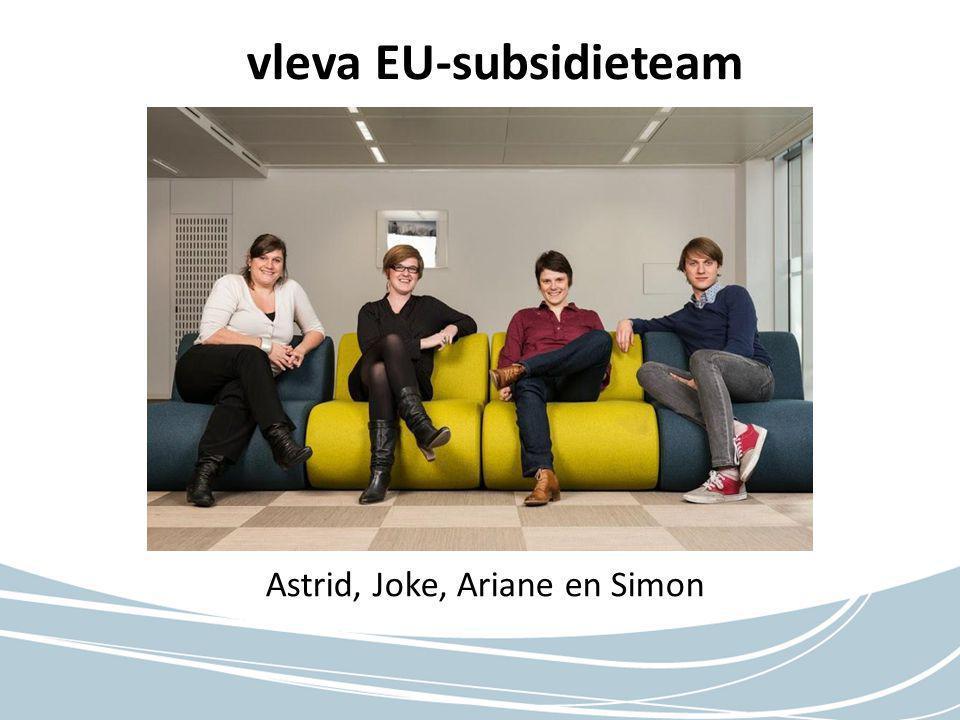 vleva EU-subsidieteam Astrid, Joke, Ariane en Simon