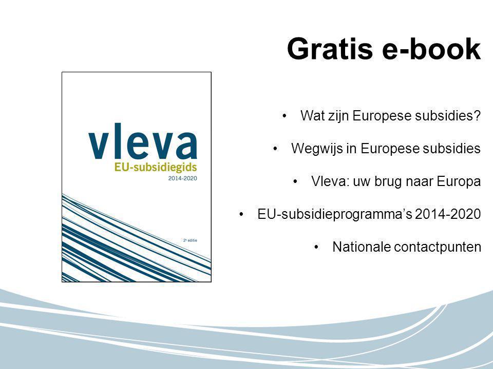 Gratis e-book Wat zijn Europese subsidies.