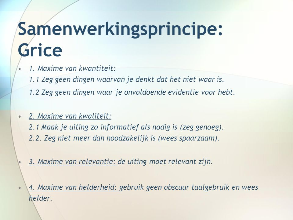 Samenwerkingsprincipe: Gu 1.