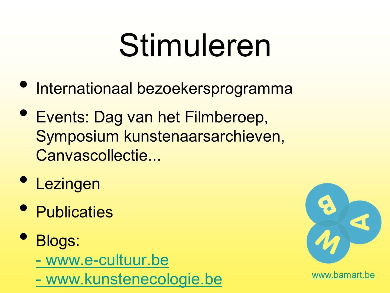 Stimuleren Internationaal bezoekersprogramma Events: Dag van het Filmberoep, Symposium kunstenaarsarchieven, Canvascollectie...