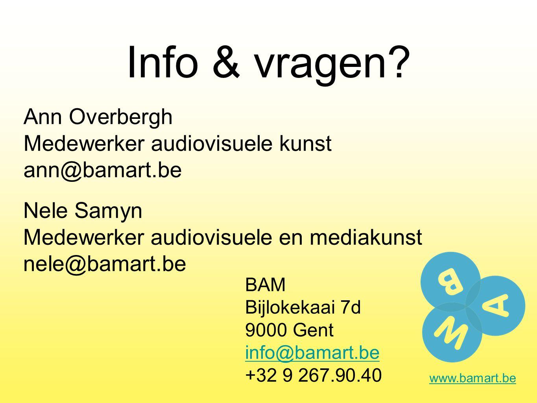 Info & vragen.