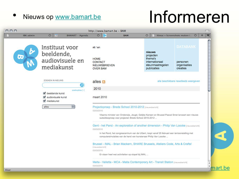 Informeren Nieuws op www.bamart.bewww.bamart.be
